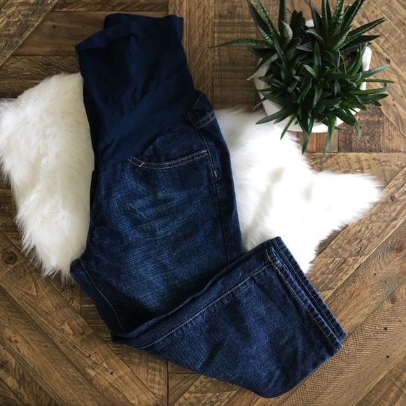 Motherhood Maternity Denim - MOTHERHOOD MATERNITY Blue Cropped Jeans